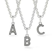 Intial Necklace Pandora Personal Initial Necklace John Greed Jewellery