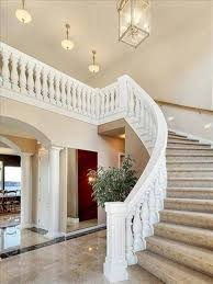 painted white curved staircase design curved staircase design