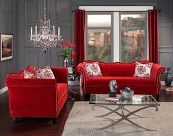 Living Room Chairs Made In Usa Contemporary Full Leather Red Sofa Set 44l2540 Red Cabot Red