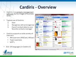 Scan Business Cards Software Cardiris Corporate 5 For Microsoft Dynamics Crm Ppt Video Online