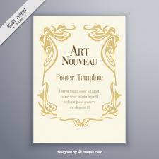 wedding poster template vintage nouveau poster template vector free