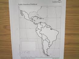 Latin America Outline Map by Bt Wilson Bobcat Social Studies Political Map Of Latin America