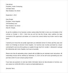 9 termination of services letter templates free sample example