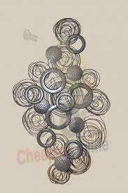 Articles With Silver Circle Metal Wall Art Tag Box Springs