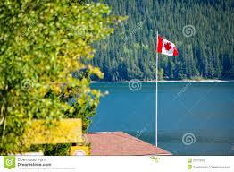 Flag Im Kanada Flagge Im Wind Stockbild Bild Von Ferien Markierungsfahne