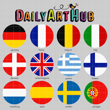 European Flags Images European Flags Clip Art Set U2013 Daily Art Hub U2013 Free Clip Art Everyday