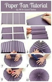 paper fans diy paper fan tutorial via all in twine diy project list