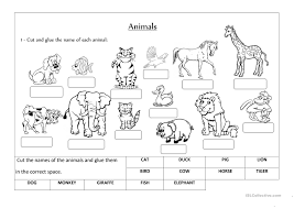 animals label and classify worksheet free esl printable