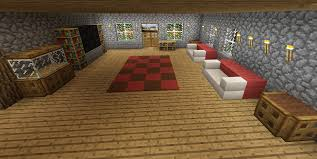 minecraft living room tv rug couch furniture aquarium minecraft