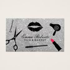 Business Cards Hair Stylist Hair And Makeup Business Cards U0026 Templates Zazzle