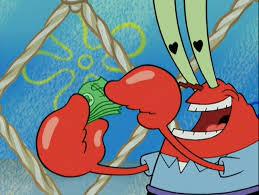 image mr krabs with heart pupils png encyclopedia spongebobia