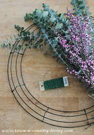 eucalyptus wreath how to make a eucalyptus wreath town country living