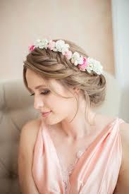 pretty wedding bridal updo hairstyle with side braid ideas