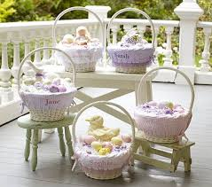 personalized easter basket liners pottery barn kids easter baskets and liners decor look alikes