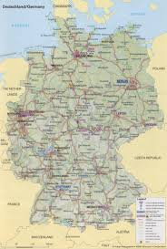 Map Germany by Guide To Bach Tour Maps