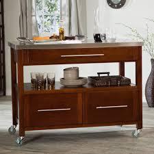 stainless top kitchen island furniture modern brown kitchen carts and island with stainless