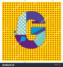alphabet letter g logo abstract memphis stock vector 488353837