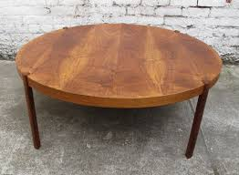 mid century round coffee table danish mid century modern large round teak coffee table large round