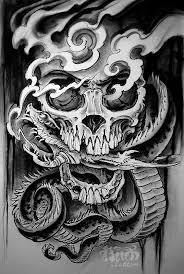 skull with snake by audi original