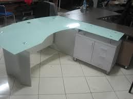 bureau verre blanc catégories mobilier de bureau