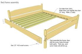 King Size Bed Frame Diy Pdf Woodwork King Size Bed Frame Plans Diy Plans The