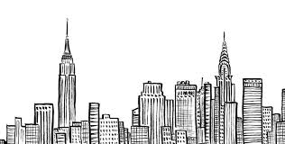 skyline of new york sketch google search crafts