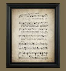 oh holy night christmas song lyrics by vintageartrevived on etsy