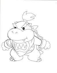 bowser jr coloring pages awesome mario party coloring pages with