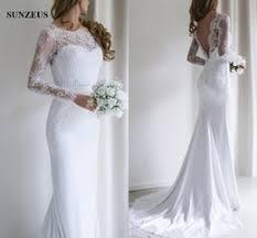 dropshipping low back lace sleeve wedding dress uk free uk