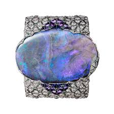 cornflower blue opal cartier étourdissant high jewelry at art basel miami the