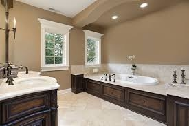 painting ideas for bathroom classic brown bathroom with lights and bathtub neutral bathroom