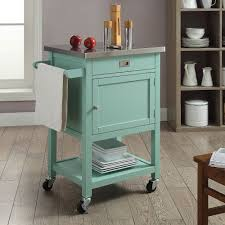 kitchen island stainless steel top linon sydney kitchen island cart u2014 light green with stainless