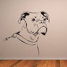boxer dog 2015 diary outline boxer dog animals wall art stickers wall decal animal
