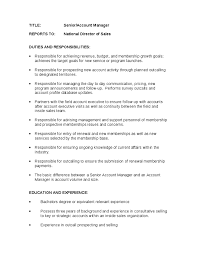 good resume for accounts manager job responsibilities duties senior account manager job description account manager roles and