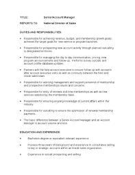 Target Cashier Job Description For Resume by Account Manager Job Description For Resume Recentresumes Com