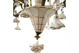 porcelain chandelier roses 1950s porcelain roses chandelier omero home