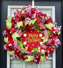 merry christmas wreath red and green christmas wreath u2013 southern