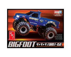 videos de monster truck 4x4 amazon com amt 805 1 32 big foot monster truck snap kit