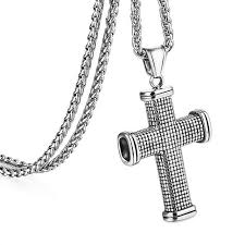 fashion chain necklace images Fashion stainless steel pendant necklace for men trendy silver jpg