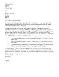 cover letter template word download application letter sample word within senior executive assistant