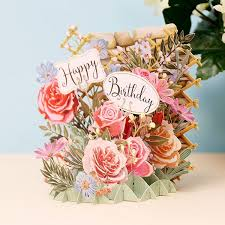 birthday flowers happy birthday flowers 3d card temptation gifts