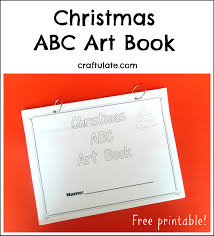 christmas abc art book craftulate
