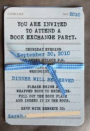 book swap invitation wording google search book club party