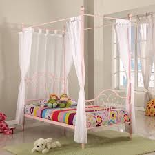 Cheapest Single Bed Frame Fantasia Kid S Single Four Poster Bed Frame In Pink Buy Single Beds