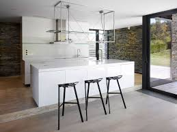 minimalist custom made kitchen island modern black iron breakfast