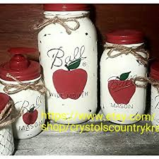 apple kitchen canisters 125 best jar home decor rustic country images on