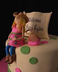 baby shower cake how sweet it is cakes yellow with dots small jpg