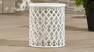 Small Side Table Lattice Diamond Small Side Table Crate And Barrel