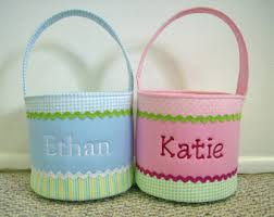 personalized easter basket easter basket etsy