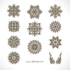 thai ornaments pack vector free